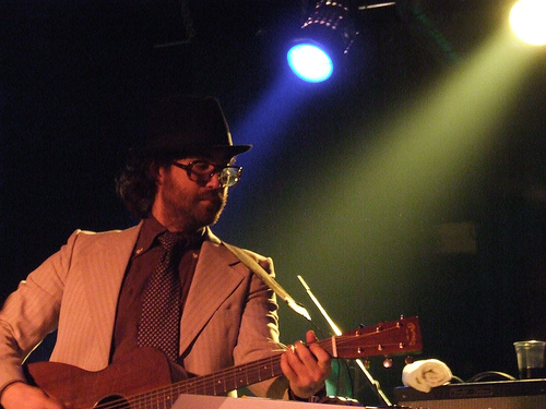 Sean Lennon performs on stage