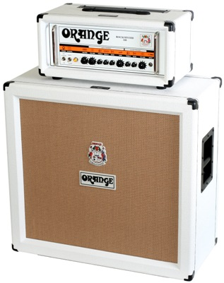 White Finish Orange Amp